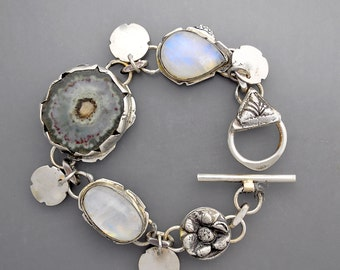 Agate Stalactite and Moonstones