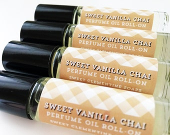 Sweet Vanilla Chai Perfume Oil, Roll On Perfume, Vanilla, Chai, Fragrance Roll On, Perfume