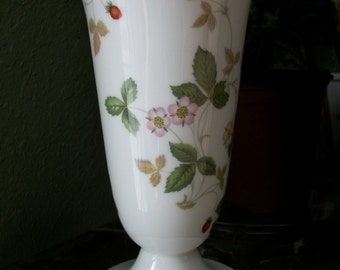 Wedgwood Wild Strawberry Vase Bone China Made in England