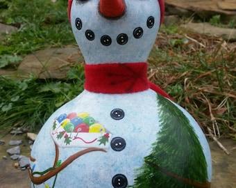 Christmas Tree Snowman Gourd