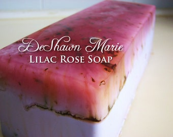 SOAP - 3 lb. Lilac Rose Vegan Handmade Soap Loaf, Wholesale Soap Loaves