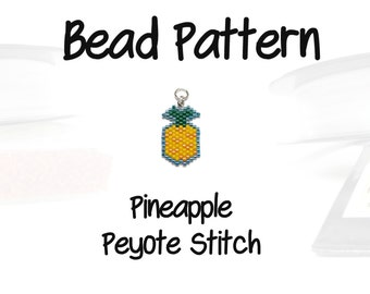 Aloha Pineapple Pattern, Seed Bead Weaving | PDF File