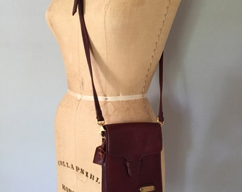 SALE...burgundy red leather purse | small messenger bag