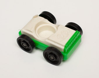Fisher Price Green Car, 930 Garage Vehicle, Plastic Toy, Vintage 70s
