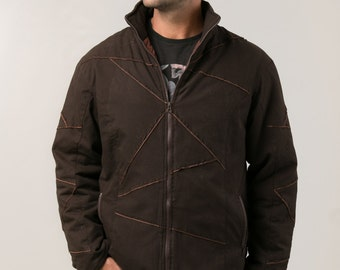 Kanvas Patch Jacket For Men -  tribal clothing - winter coat - men's clothing