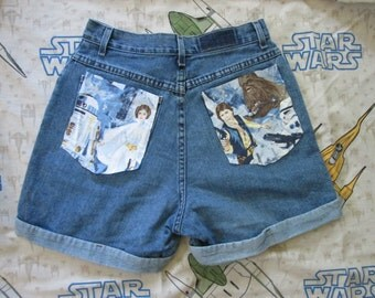 Vintage Star Wars 70s High Waisted Denim Shorts