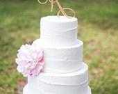 Letter Cake Topper Monogram in Glitter - Custom Letter Cake Topper for Party or Event Wedding Cake, Engagement, Shower, Etc. (Item - CTL900)