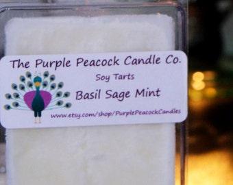 Basil Sage Mint Soy Tarts, Handmade Soy Tarts, Sage Melting Tarts, Sage Tarts, Soy Tarts, Soy Wax Tarts, Sage Wax Tarts, Basil Wax Tarts