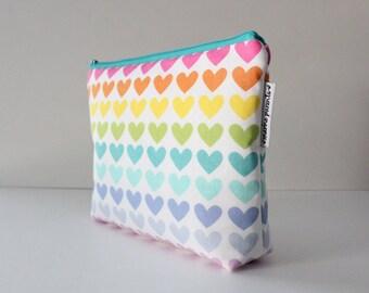 project bag -- rainbow hearts