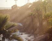 "Fine Art Photograph ""California Dreaming"" Laguna Beach Coastline Cliff Metallic Print  Pastel Pink Glow Wall Art Nature Pacific Ocean Beach"