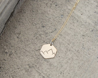 HEX Mountain Range Necklace / We are made to conquer mountains