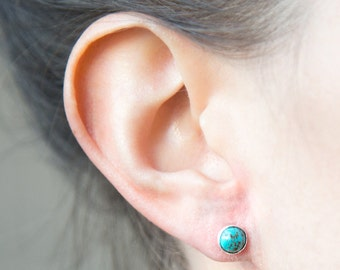 Mini's  Turquoise + Sterling Studs