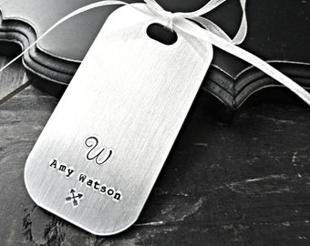 Personalized Aluminum Luggage Tag - Personalized Luggage Tag - Luggage Tag - Custom Luggage Tag - Custom Address Tag