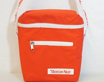 Vintage Beech Nut Insulated Lunch Bag Case Red 90s Lunchbox
