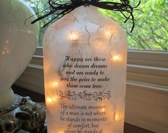 WIne Bottle Lamp ~ Inspire