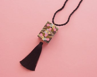 "Tassel Necklace // Tropical Necklace // Statement Necklace // Geometric Necklace // Geometric Jewelry // The ""South Beach"""