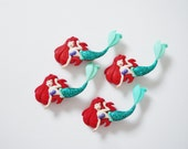 Mermaid Buttons 4pc