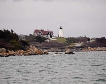 Lighthouse Pictures, Nobska Light, Woods Hole, New England Coast, Coastal Home Decor, Coastal Inspired, Seaside Wall Art, Home Wall Decor
