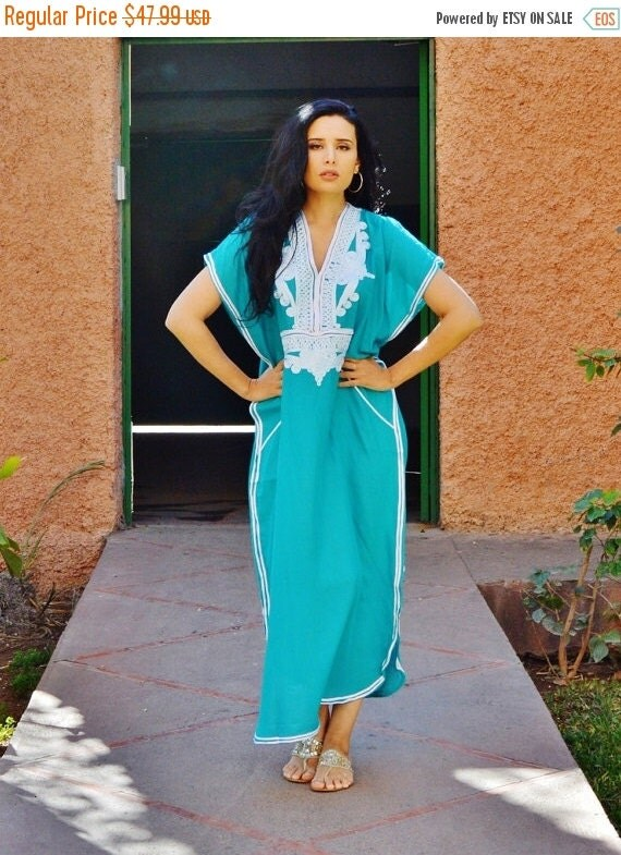 Emerald Green Resortwear Caftan Kaftan-for Ramadan,beach cover up, resortwear,abaya, lounge wear, maternity wear, birthday, wedding