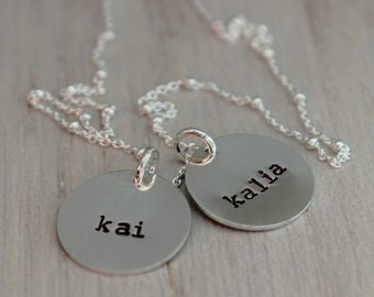 """two disc names necklace 