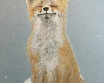 First snowflakes fox
