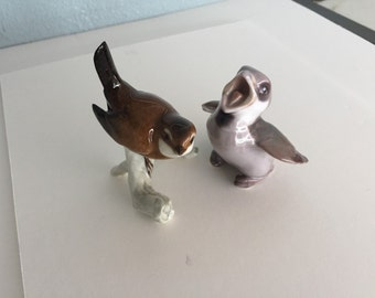 Bing & Grondahl Porcelain Baby Sparrow Chick Birds PAIR #1852 / by Gatormom13