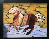 Mustang Suncatcher Mosaic Custom Horse