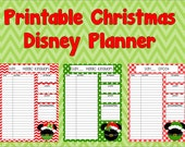 Printable Christmas Disney Planner, Instant Download, Agenda, Itinerary