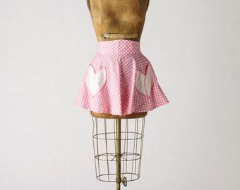 Womens Dora Half Apron 50s Circle Skirt