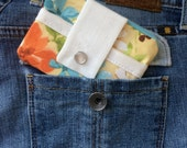 SALE - Small Women's Wallet - Yellow Coin Purse and Card Holder