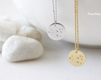 Space Necklace in Gold/ Silver. Galaxy Necklace. Planet Necklace. Collarbone Necklace. Layering Necklace. Timeless. Unisex Gift. (PNL- 148)