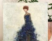 Dancer Painting Figure Painting Ballroom Dancer textured Figurative Beauty Is 12x12 Swalla Studio  Free Shipping