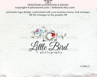1284-3 photography logo, Custom logo, Premade Logo Design, little bird  photographer logo by princessmi