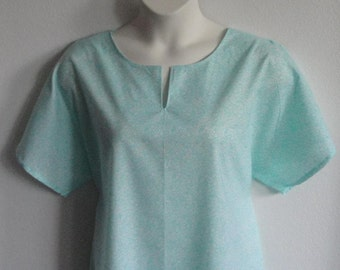2X & 3X - Post Surgery Nightgown - Shoulder / Breast Cancer - Mastectomy / Hospital / Adaptive Clothing / Rehab / Breastfeeding -Style: Erin