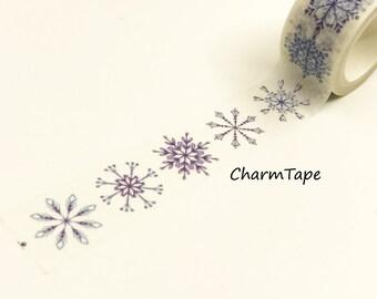 Blue Snowflakes Washi Tape Roll (20mm x 5m) WT948