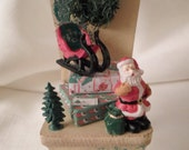 SALE / DOLLHOUSE CHAIR / Strombecker / Christmas / Ornament / Decoration / Tree / Presents / Santa & Sleigh / Wreath / Miniatures / Retro