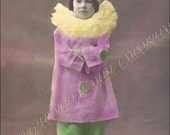 The Little Clown Girl Instant Download Vintage Photograph