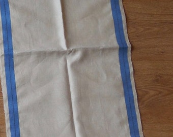"94"" Long Blue Stripe Linen Roller Kitchen Towel"