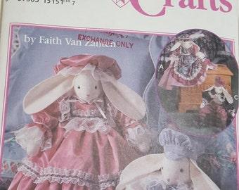 Craft Pattern - Victorian bunnies - Vintage Simplicity pattern #8893