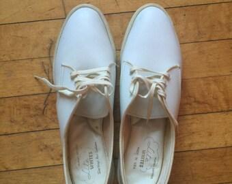 Vintage White Nurse's Oxford Shoes