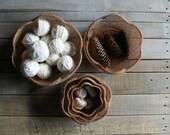 5 Vintage Nesting Baskets