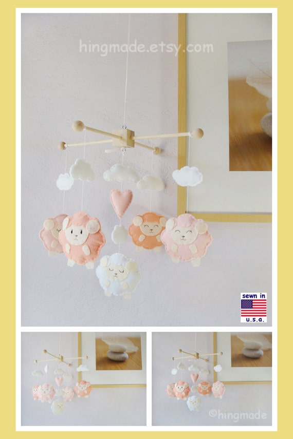 Baby Mobile Lamb Baby Mobile Sheep Mobile Baby Shower By