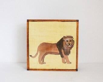 safari nursery art lion nursery art- baby boy nursery art- jungle nursery prints, yellow baby nursery decor- lion art- redtilestudio