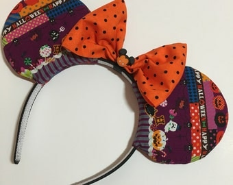 Halloween Kawaii Mouse Ears with Bow - Mad Ears - IN STOCK