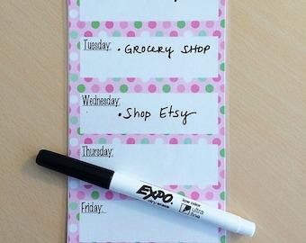 Weekly Dry Erase Calendar - Dry Erase Calendars - Magnetic Dry Erase Calendar - Calendar Weekly - Weekly To Do List - Desktop To Do List