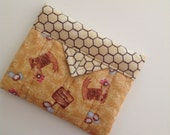 Chickens Quilted Fabric Mini Snap Bag Pouch Gift Idea Novelty