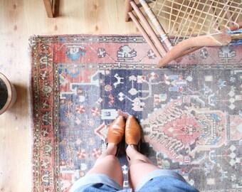 vintage Turkish rug, 3.5' x 5.5'