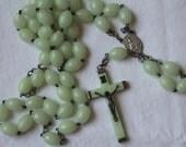 Vintage Rosary Vintage Glow in the Dark Rosary Vintage Vintage Italy Rosary Vintage Catholic Collectible