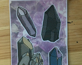 Crystals sticker sheet