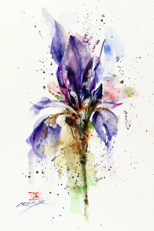 Iris Flower Tattoo Watercolor